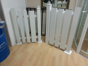 Garden fence white lacquered aluminum
