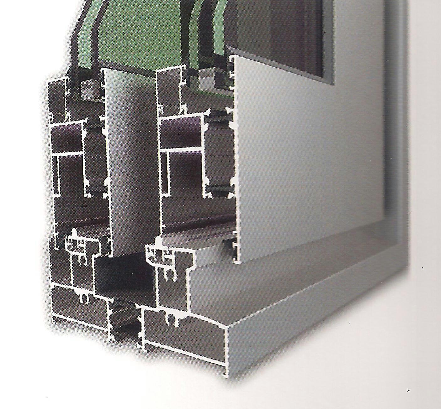 Serie corredera gama premium matra 135 rpt de alugom por for Perfiles de aluminio barcelona