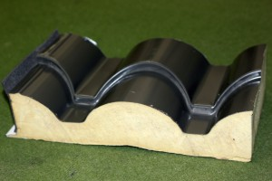 Sample type roof tile