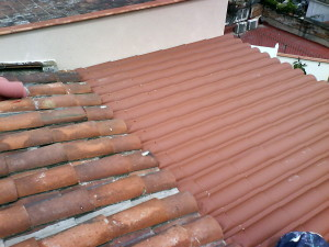 Steel roof tile imitation thermal insulation