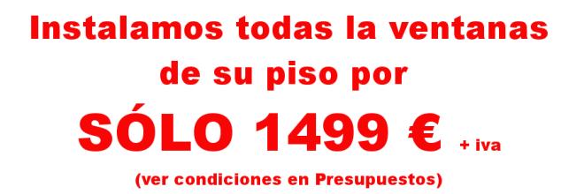 Ventanas aluminio piso Barcelona 1499€