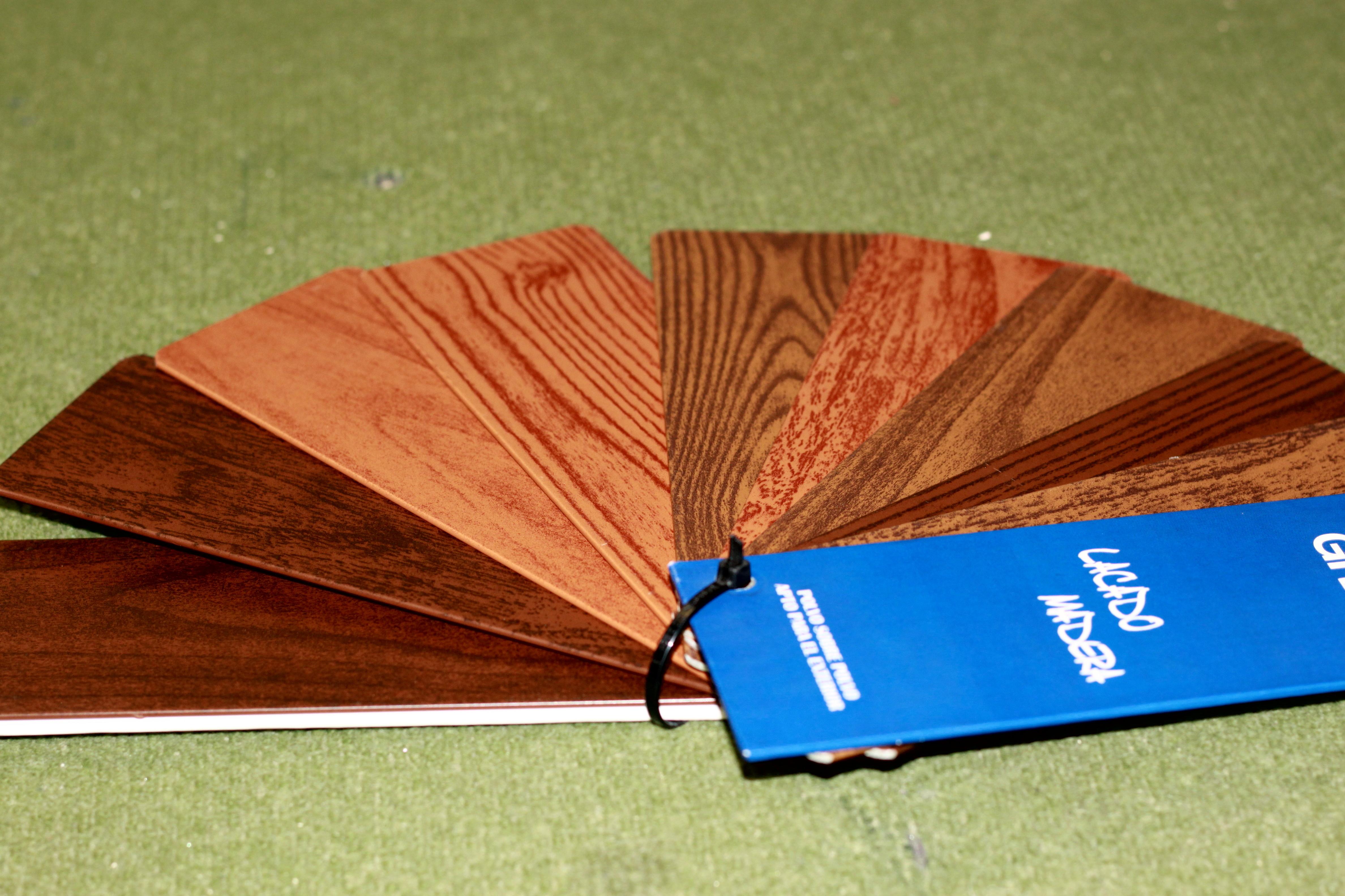 Ventana de aluminio lacado madera nogal b 7 carpinter a - Lacado de madera ...