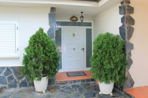 Puerta blindada lacado blanco