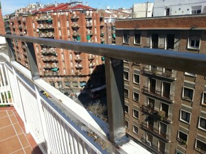 Iron rail extension in Barcelona
