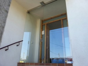 Main entrance door with tempered glass type VIDUR