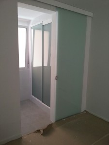 Indoor sliding door