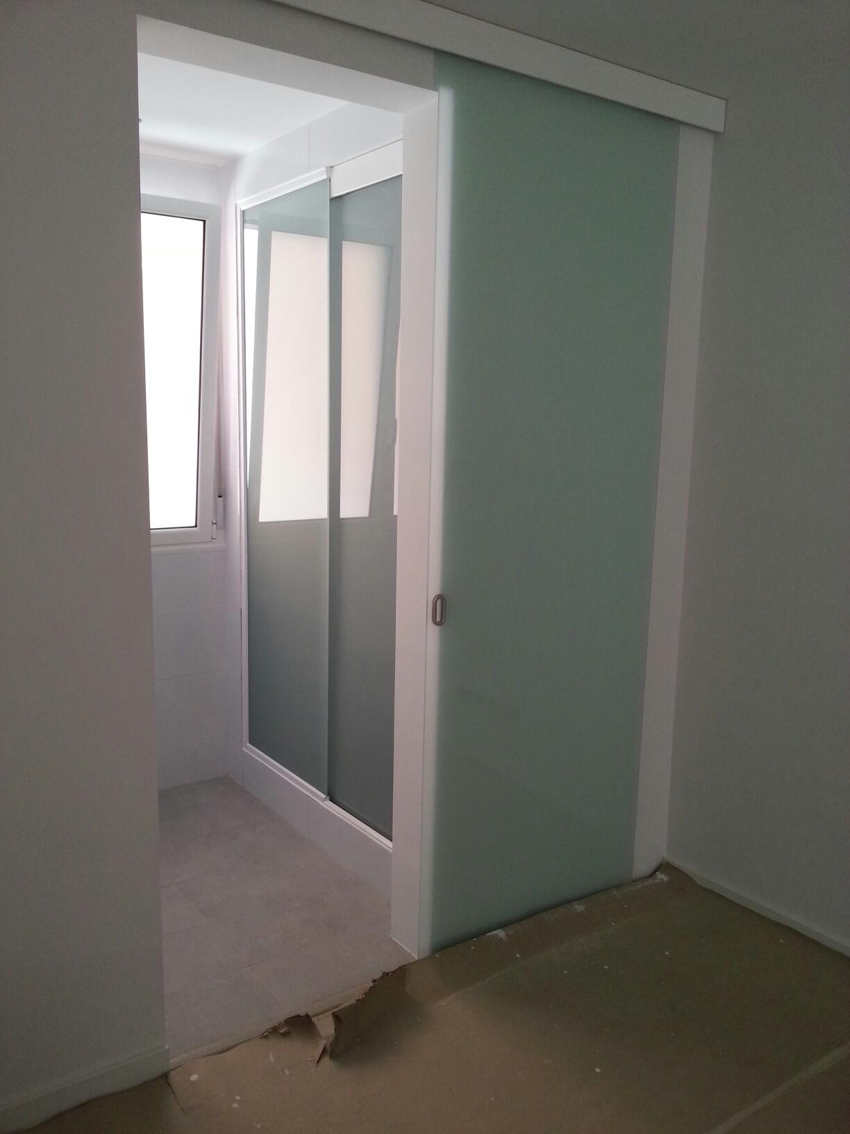 puerta de vidrio de seguridad deslizante o corredera de