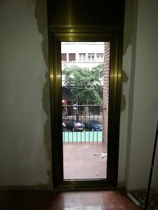Door bronze anodized finish in Barcelona