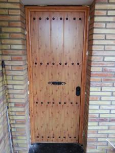 Lacquered wooden door
