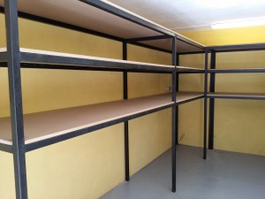 Iron reinforced shelves for heavy loads