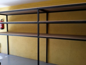Shelving iron wood boards