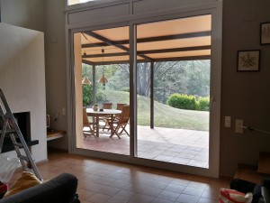 Sliding door to patio