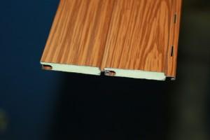 Perfil persiana de aluminio lacado madera