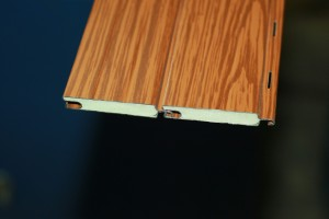 Profile wood lacquered aluminum shutters