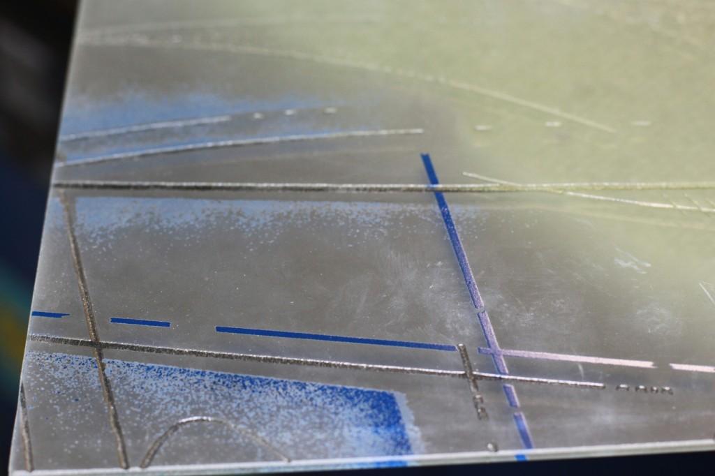 Matt etched translucent glass at color Ton model