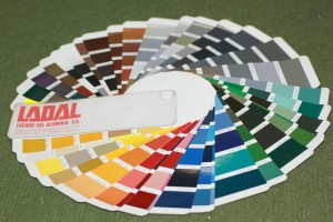 Lacquered RAL color chart