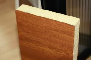 Sheet steel imitation wood sandwich