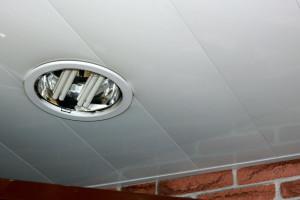 White lacquered aluminum ceiling