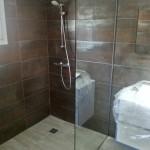 Mampara de ducha con vidrio fijo de 10 mm