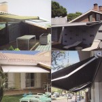 Examples of invisible arms awnings