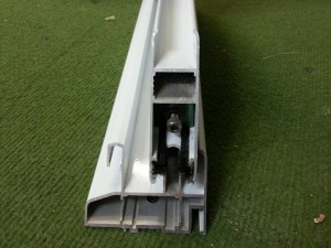 Sliding Series A-70 70mm frame with white lacquer